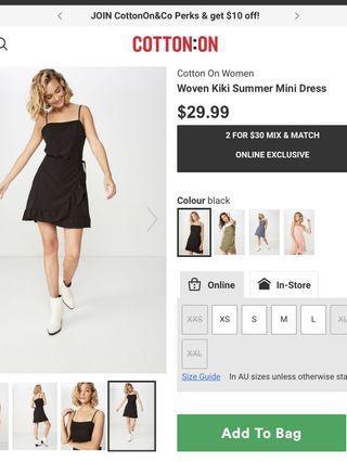 Cotton on kiki dress