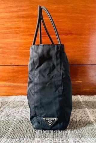 Preloved Prada Nylon bag (plain black)
