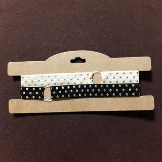 Adjustable headbands / headbands / black headband / off white headband / black gold headband