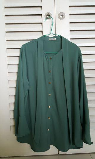 Plus size Blouse in Gree