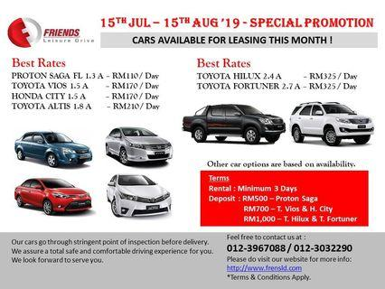 CAR LEASING FOR LONG TERM & SHORT TERMS AVAILABLE