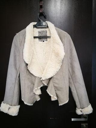 Winter Autumn suede jacket fur lining
