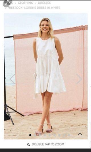 Lorene dress in white