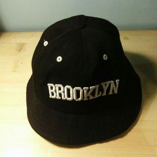 BROOKLYN字樣黑色帆布漁夫帽
