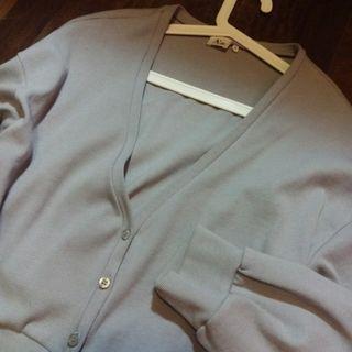 PAZZO淺灰色針織泡泡袖外套
