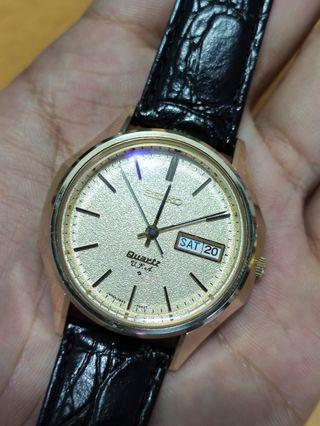 Seiko 3823 VFA Cap gold in excellent condition with buckle