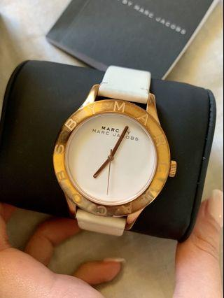 Marc Jacobs White Leather Watch