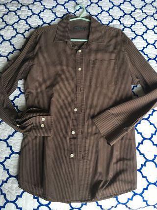 Men Seed Shirt (Brown stripes)