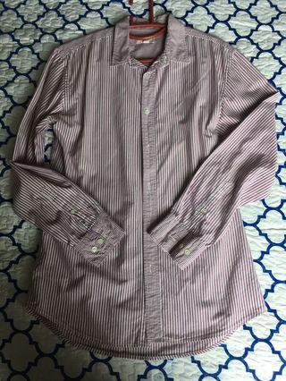Men Seed Shirt (Purplish red stripes)