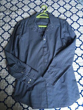 Men Seed Shirt (Checkered blue)