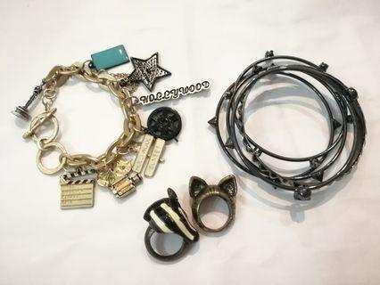 8items- bracelet+ring+bangle