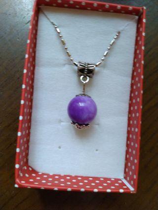 925高級紫龍晶項鍊