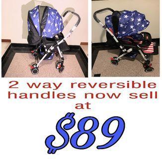 2 way reversible handles baby pram