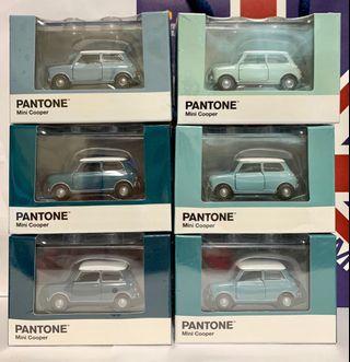 Tiny 微影 合金車 Mini Cooper X Pantone 水藍色套裝