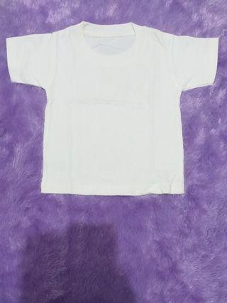 Kaos Putih Polos baby 0-1thn