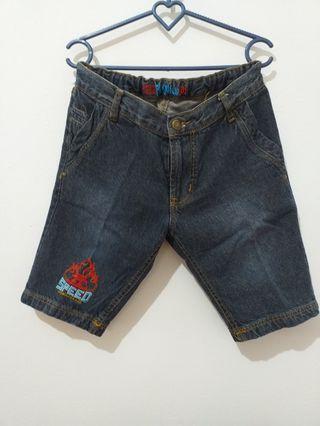 Celana Pendek Jeans Pingu
