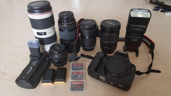 🚚 *Super Good Deal* Letting go Canon EOS 7D together with Various Lenses! No Joke!