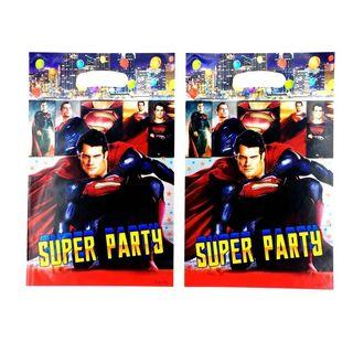 Superheroes Superman party supplies - Superman loot bags / party bags / goodie bags