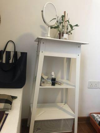 White storage stand table