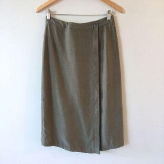 Nique Olive Green Wrap Skirt