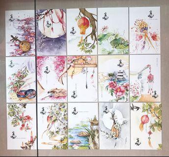 寄錦書古風明信片 卡片 心意卡仔 一套29張包郵