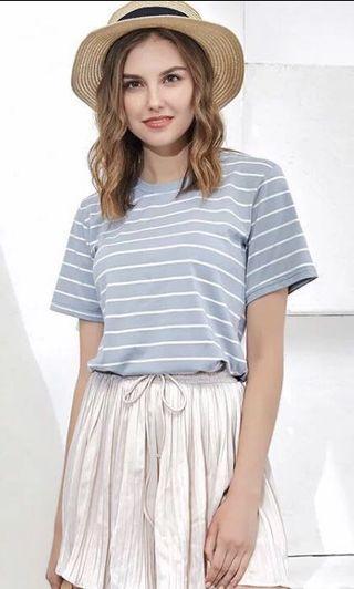 [SALE]藍色間條上衣