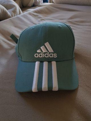 Mint green/teal Adidas cap