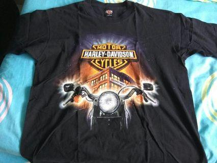 🚚 Authentic Harley Davidson motor cycle t shirt size L