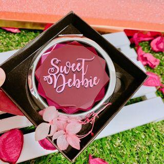 🚚 Gem Compact Mirror to Personalised Name for Gift Ideas