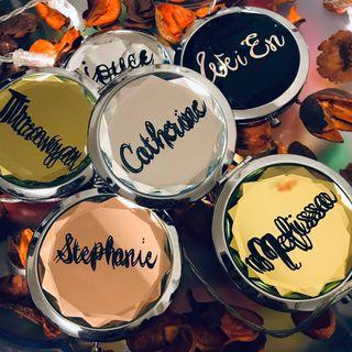 🚚 Gem Compact Mirror to Personalised Name for Gift Birthday Teacher's Day Bridesmaid Unique Gifts