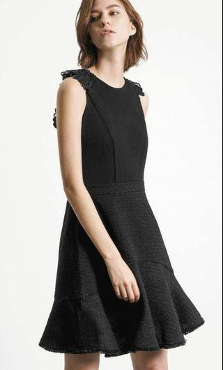 Saturday Club Back Lace Tweed Dress