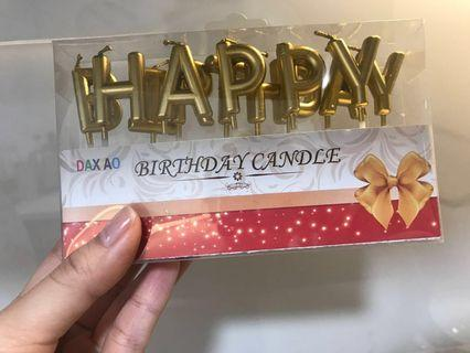 Happy birthday 立體蠟燭