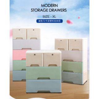 3 Day Special Good Quality Modern XL Storage Drawers (Macaron)