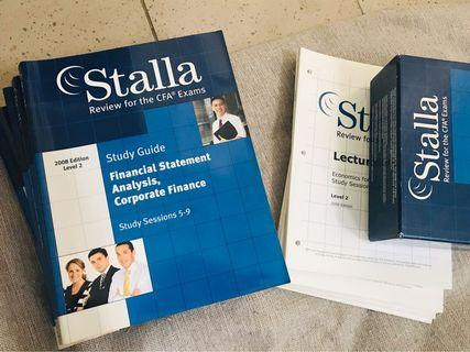 🚚 CFA Stella study guide whole set
