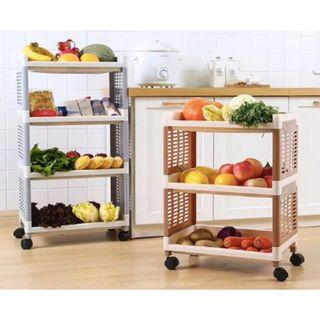 Lightweight ABS material - Multi Functional  Storage Trolley 100% Washable