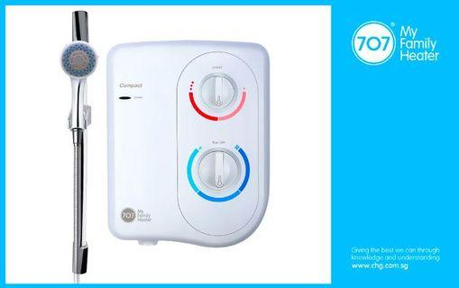 707 compact instant heater with installation