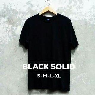 Black cotton t shirt