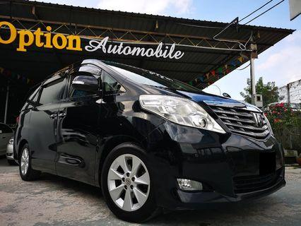 TOYOTA ALPHARD 2.4G (A) 2009/14 OTR PRICE NO PROCESSING FEE