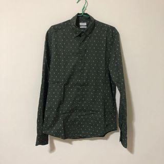 Espirit深綠長袖襯衫