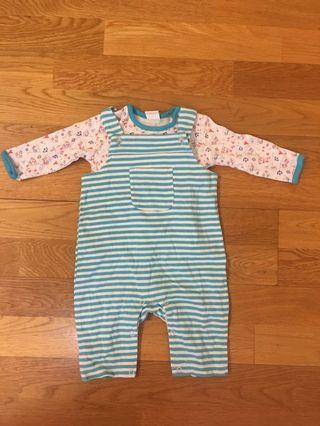 Babies cotton t-shirt & romper