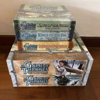 The Game of Thrones card game 2 sets + 3 expansions, 6 decks
