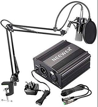 Free Delivery(JG36) Neewer NW-700 Condenser Microphone Kit NW-35 Boom Scissor Arm Stand kit #AmplifyJuly35