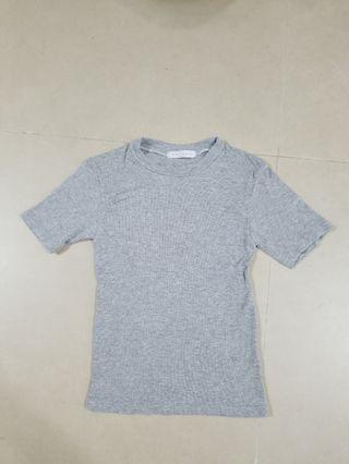 韓製灰色棉質t-shirt