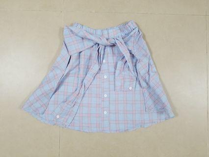 粉色格仔半截裙