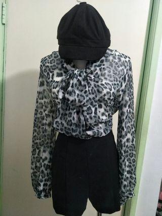 氣質豹紋襯衫