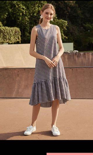 TCL Colanda Gingham Dropwaist Dress