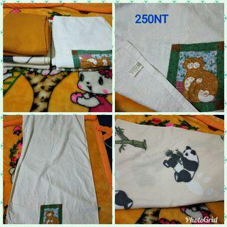 2 Baby blanket and 2 towel