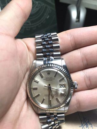 🚚 Rolex 1601 silver on Silver sunburst dial