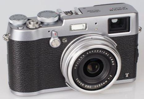 Fujifilm X100T with box and 2 batteries