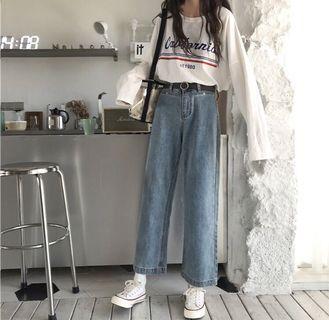 🚚 全新韓版牛仔長褲❤️